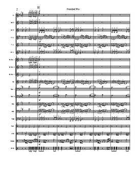 """""""Needed Me"""" High School Marching Band Score/Tune"""