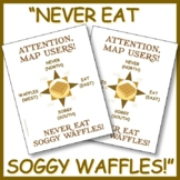 Never Eat Soggy Waffles - Compass Rose Poster