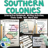 Southern Colonies Interactive Notebook, Writing Activities