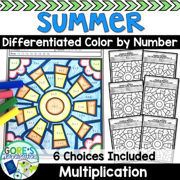 Summer Math Coloring Pages Teaching Resources | Teachers Pay Teachers