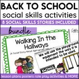 Back To School Classroom Social Story Bundle