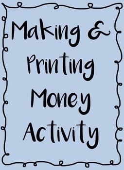 Making and Printing U.S Money Activity