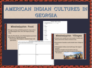 *New GSE* SS8H1a American Indian Cultures Bundle