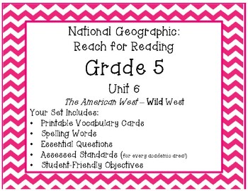 **New**  National Geographic Reach for Reading Grade 5 Unit 6 Pack!
