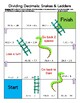 **New Product** Dividing Decimals Game - Snakes & Ladders