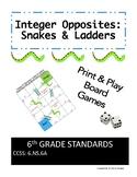 6.NS.6A - Integer Opposites - Snakes & Ladders Game