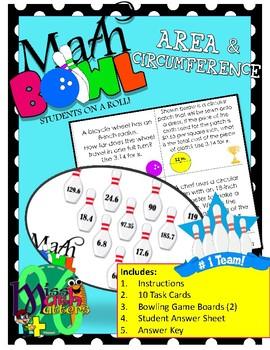 Math Bowl | Area & Circumference of Circles | Station Activity