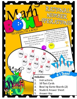 [New Series] Math Bowl | Rational Number Operations | Station Activity
