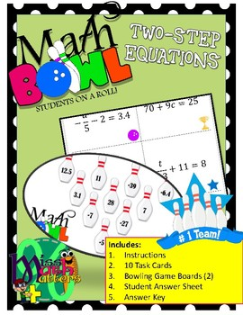 [New Series] Math Bowl | Solving Two-Step Equations | Station Activity