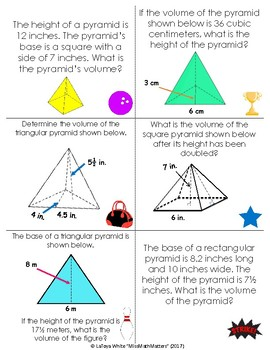 Math Bowl | Volume of Pyramids | Station Activity