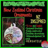 **New Zealand Christmas Ornaments** Te Reo and English