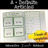 À + Definite Article Contractions Foldable: French Interac