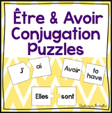 French Verbs Être and Avoir Conjugation Puzzles