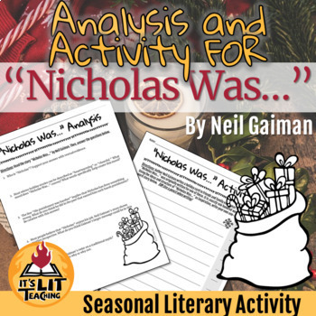 """""""Nicholas Was..."""" Holiday Analysis and Activity"""