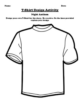 """""""Night Anthem"""" T-Shirt Design Worksheet"""