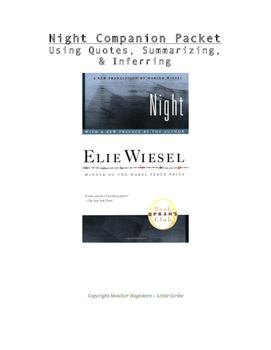 """Night"" (Elie Wiesel) Companion Packet"