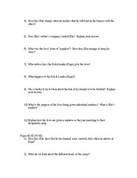"""Night"" Study Guide"