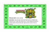'Ninja Turtles' themed addition and subtraction board game
