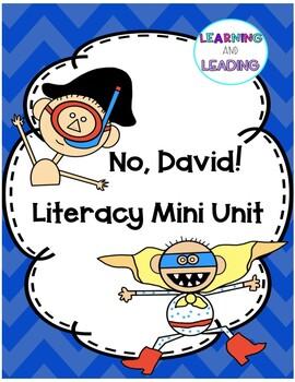 """""""No, David"""" Reading Response and Writing Activities"""