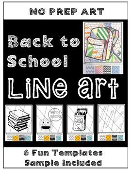**No Prep** Back to School LINE ART