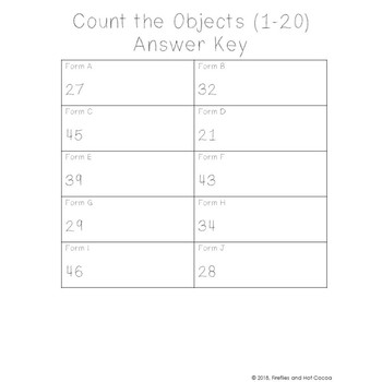 No Prep Counting Objects To 10 20 50 Worksheets Bundle Tpt