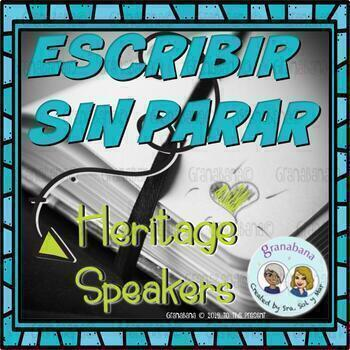 (No-Prep) Writing For Fluency in Spanish - Hispanohablante/Heritage Level
