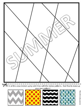 **No Prep** Summer Vibes Line Art Template MegaPack **End of Year Fun**
