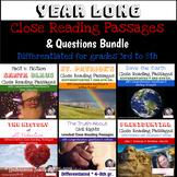 Year Long Close Reading Passages & Questions {Bundle}