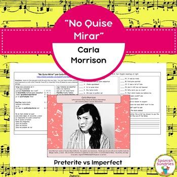 """""""No Quise Mirar"""" por Carla Morrison & Preterite vs Imperfect"""