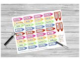 """No School"" Teacher Crayon Stickers PRINTABLE"