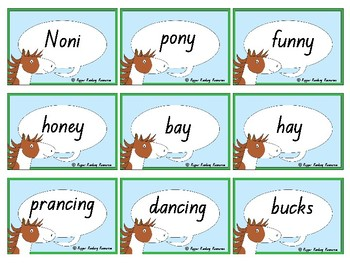 """""""Noni the Pony"""" rhyming words and comprehension activities"""