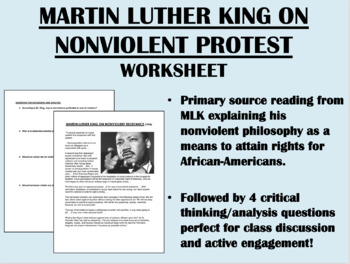"""""""Nonviolent Protest"""" - Martin Luther King Jr. - Civil Rights Movement"""
