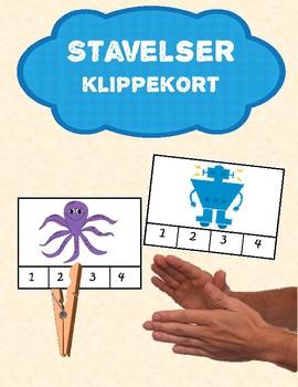 *Norwegian* Klypekort med stavelser