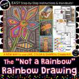 """Distance Learning Adaptable! The """"Not A Rainbow"""" Rainbow Drawing"""