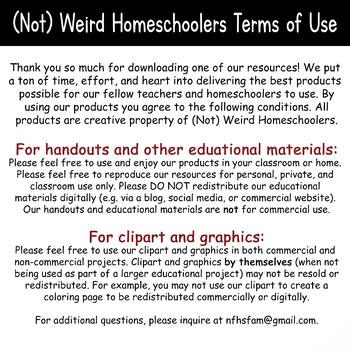(Not) Weird Homeschoolers Terms of Use