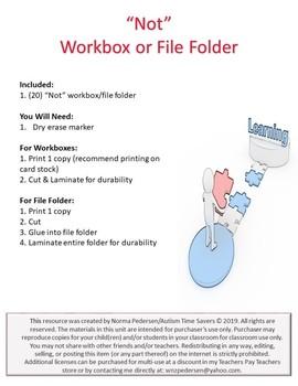 """Not"" Workbox or File Folder"