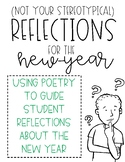 New Year Reflections for High School English, Poetry Activity
