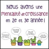{Nous avons une mentalité de croissance} French Growth Mindset bulletin board