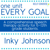 Every Goal Speech Therapy Unit - Inky Johnson