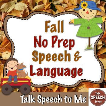 Fall No Prep Receptive and Expressive Language Pack