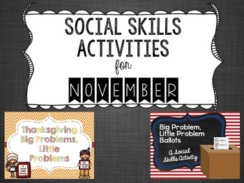 Social Skills Activities for November