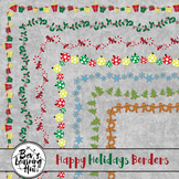 Happy Holidays Christmas Borders