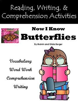 """Now I Know Butterflies"" Activities for Guided Reading & Writing"