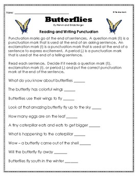 """""""Now I Know Butterflies"""" Activities for Guided Reading & Writing"""