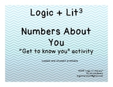 """""""Numbers About You"""" Get to know you activity"""