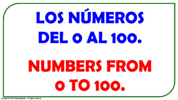 """""""Numbers from 0 to 100"""". PPT. with audio."""