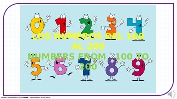 """""""Numbers from 100 TO 500"""". Power Point Presentation with animated pictures."""