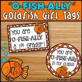 """O-Fish-Ally"" Goldfish Student Gift Tags"