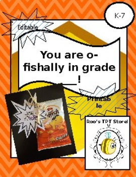 """O Fishally"" back to school!"