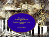 """O Holy Night"" An Intermediate Level Piano Sheet Music Chr"